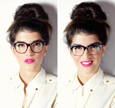 Приказно красива с очила и грим