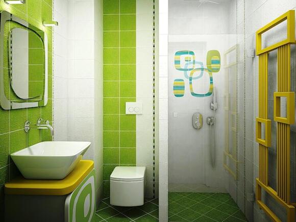 Baño Color Verde Agua:Кокетни малки бани за всеки вкус