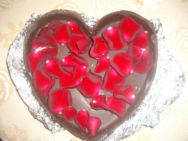 Шоколадово сърце за най-романтичния Свети Валентин