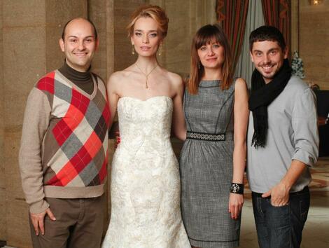 Грациозната булчинска рокля на Ирена Милянкова