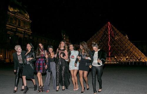 С френски привкус: Моминското парти на Ким Кардашиян
