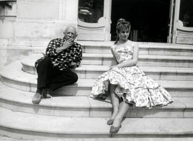 Вълнуващи ретро снимки: Бриджит Бардо среща Пикасо