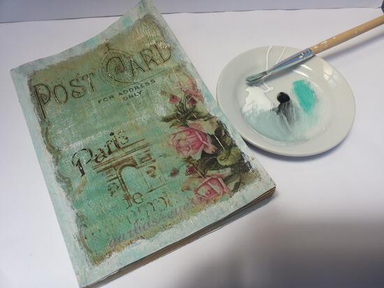 Винтидж идеи от Martinel: Декупаж на стара книга