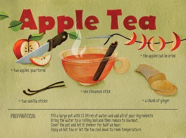 Кулинарно ателие: Полезен ябълков чай