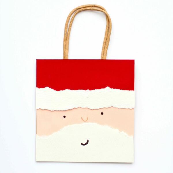 Направете си сами: Подаръчна торбичка с лика на Дядо Коледа!