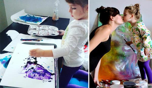 Майка превръща рисунките на 3-годишната си дъщеря в произведения на изкуството
