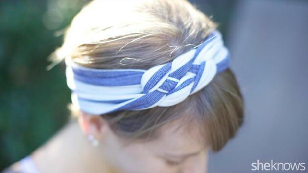 e06aff13180 Превърнете старата си тениска в страхотна лента за коса - Статии ...