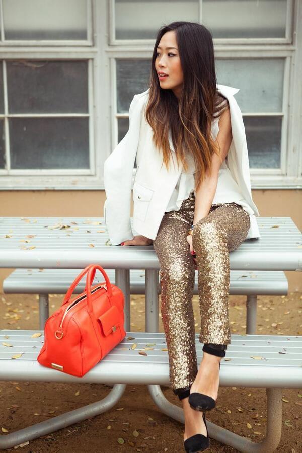 6 идеи за блестящи визии, постигнати с празничните дрехи с пайети