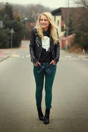 Стилните жени: Зелен панталон