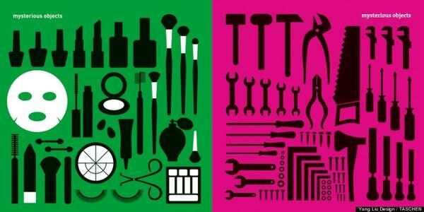Съвременните разлики между жените и мъжете, показани с минималистични илюстрации
