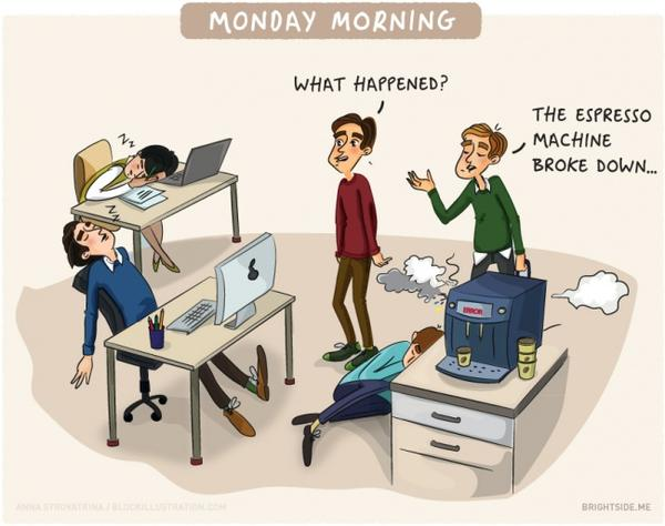 10 забавни илюстрации, които перфектно описват живота в офиса!