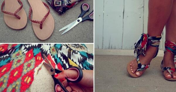 Направете си сами: Цветни гладиаторски сандали!