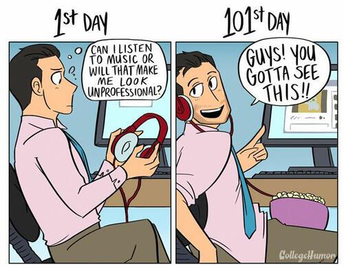 1-ви ден и 101-ви ден на работа