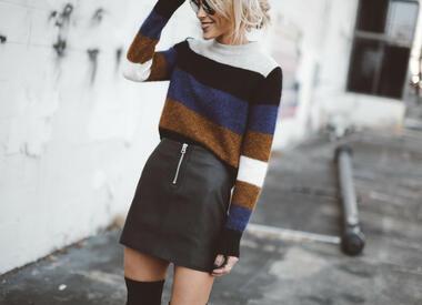 Стилна визия с пуловер