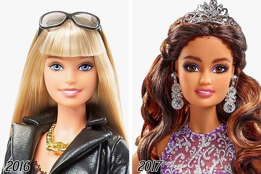 Как се е променила Барби през последните 50 години
