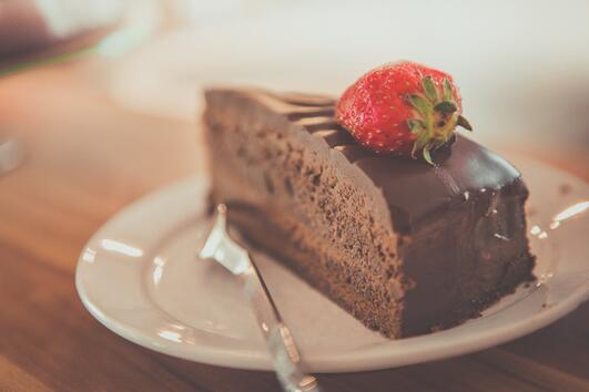 Торта с ябълки и шоколад