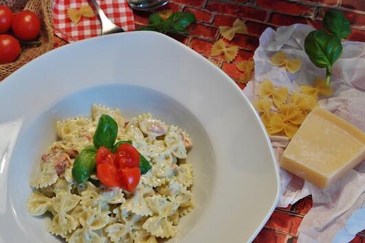 Рецепта за макарони на фурна с шунка