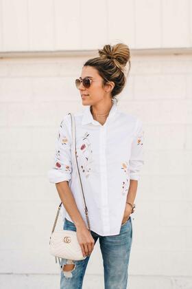 Елегантни с бяла риза