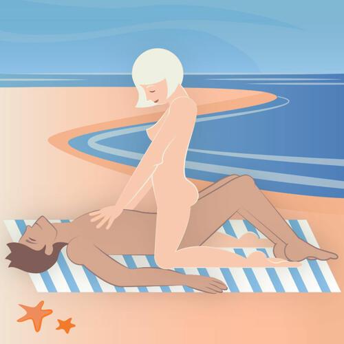 Невероятни секс пози за плажа