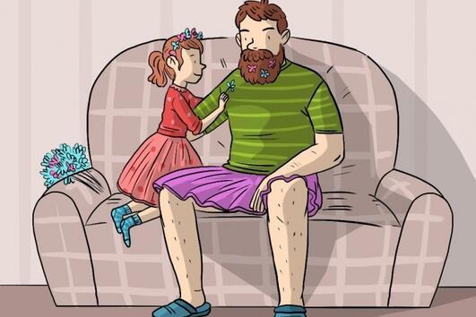 Комикси показват какво е да бъдеш баща