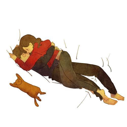 Сладки илюстрации ни показват как изглежда любовта в ежедневието