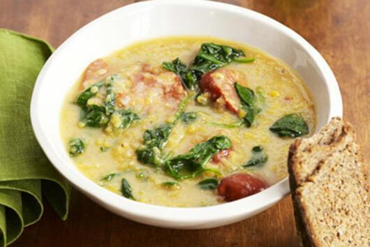 Супа от червена леща с чоризо