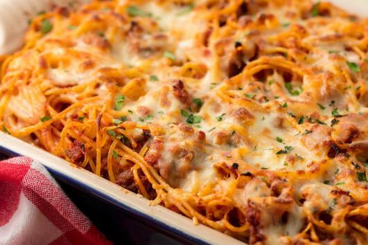 Супер лесни есенни вечери: Печени спагети