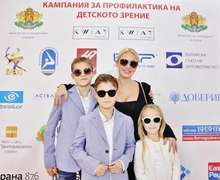 Изявени спортисти и личности подкрепиха кампанията на KWIAT за профилактика на детското зрение