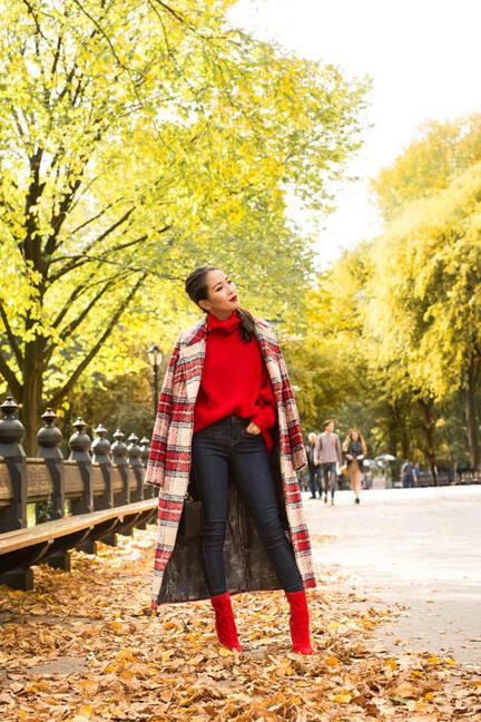 В огнено червено през есента