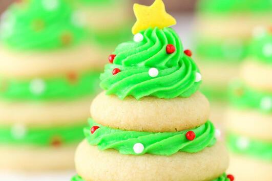 Коледни десерти: Коледни дръвчета