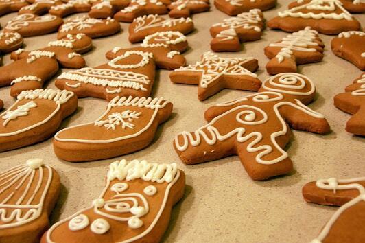 Коледни десерти: Класически джинджифилови бисквити