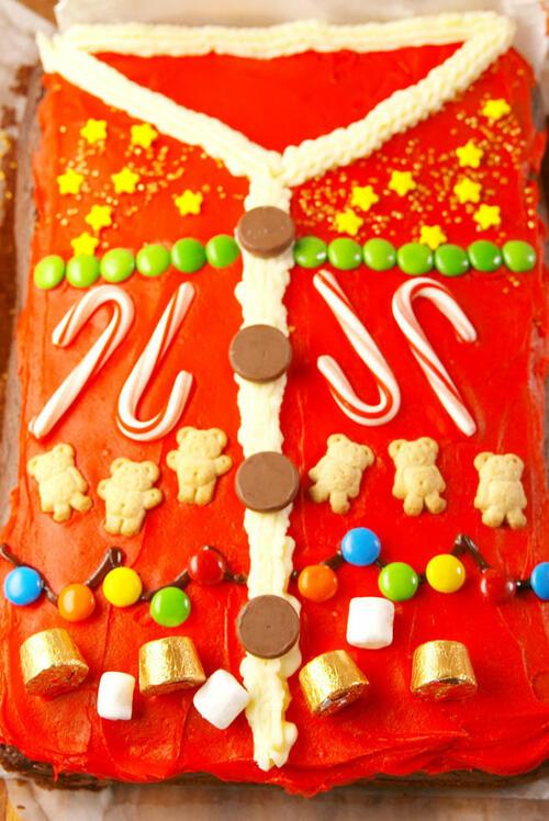 """Коледни десерти: Торта """"Коледен пуловер"""""""