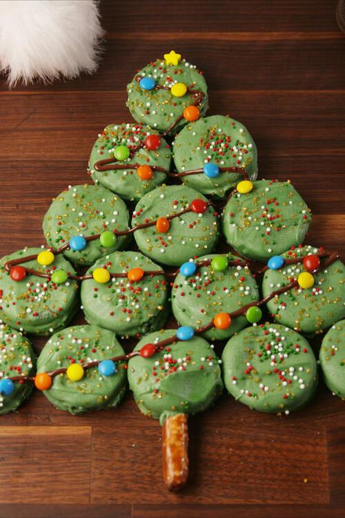 Коледни десерти: Коледно Орео дърво