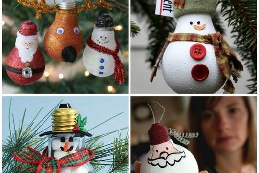 Коледни играчки, които можете да направите за 30 минути (2-ра част)