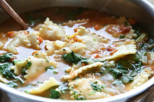 Супа с равиоли