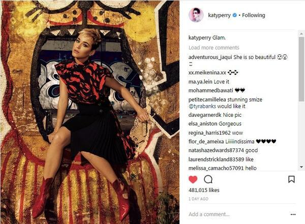 """Кейти Пери е неотразима на корицата на списание """"Glamour"""""""