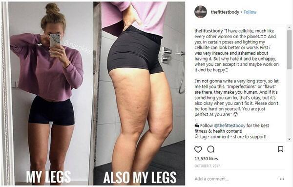 """Нова тенденция в Instagram разкрива истината зад """"перфектните"""" фитнес тела"""