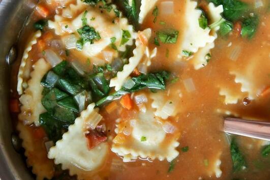 Рецепта за супа с равиоли