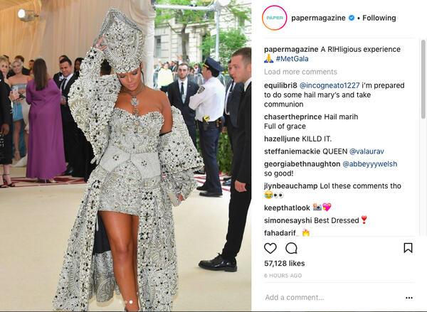 Как изглеждаше Риана на Мет Гала 2018