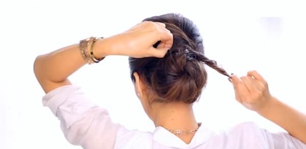 Как да си направите елегантен кок сами, за 2 минути (ВИДЕО)