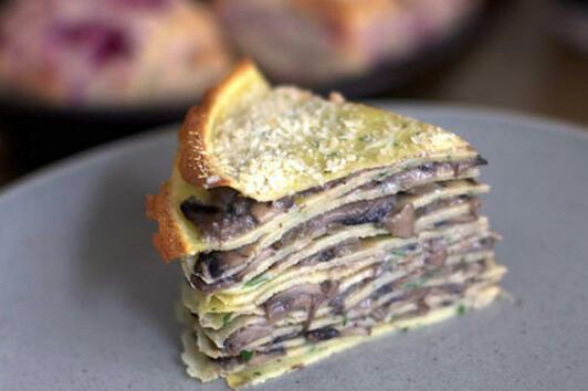 Торта с палачинки и солен вкус