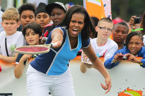 В спортна форма като Мишел Обама