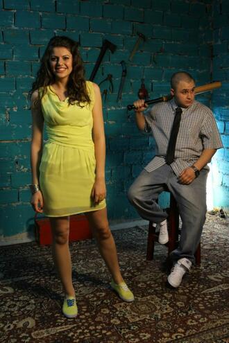 На сантиметри от Били Хлапето и Михаела Филева