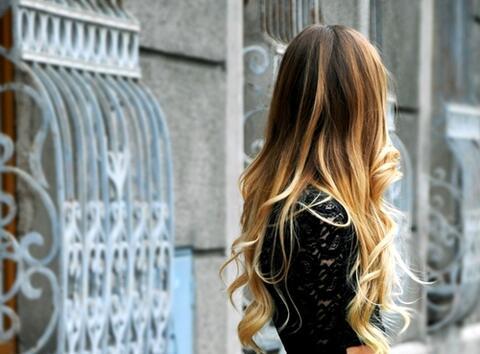 Омбре в косите