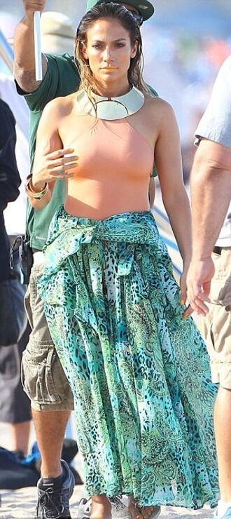 Джей Ло показа целулит на плажа