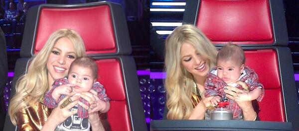 Интимни моменти с Шакира, Пикè и бебето Милан