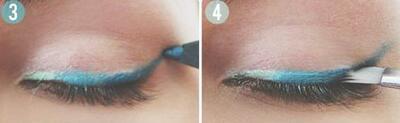 Как да си направим омбре очна линия