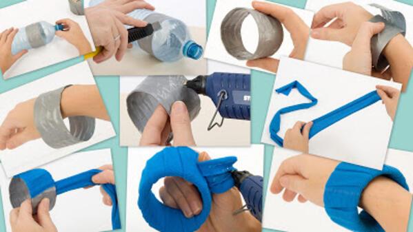 Направете си гривни от пластмасови бутилки